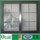 Алюминиевая дверь сползая стекла с черным цветом