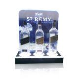 Visualización iluminada de la botella del licor, visualización de acrílico de la botella del LED