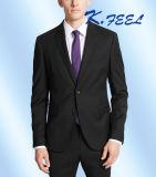人の方法黒の細い適合の形式的なコートの動悸のスーツ