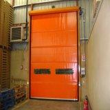 Porta rápida elétrica industrial do obturador do rolo do PVC para a aplicação do armazenamento frio (HF-J305)