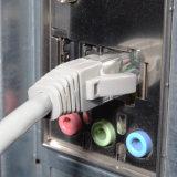 Cat5e UTP RJ45 Ethernet-Steckschnür-Kabel 15 Fuß grau