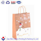 Packpapier-Beutel der Qualitäts-2016 zurückführbares kundenspezifisches Weihnachten gedruckter