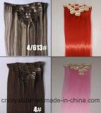 Clip di capelli sintetiche di Remy di qualità di Higt nelle estensioni dei capelli
