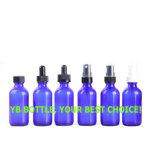 bouteille en verre d'huile essentielle de bleu de cobalt 4oz avec le couvercle à visser