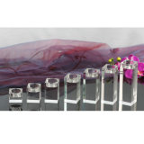 Velas de cristal do castiçal