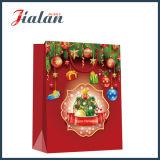 Bolsa de papel brillante del regalo de la Feliz Navidad del papel revestido de la manera barata