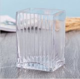 Florero cristalino del vidrio del arte de la decoración de la alta calidad casera del florero
