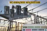 Gemodulariseerde Industriële Schakelaar Ethernet die iec61850-3 en de Normen van IEEE 1613 voor het Hulpkantoor van de Macht & Slim Net naleeft