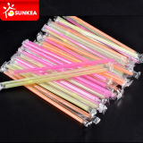 Yellow rosso Cold Drink Plastic Straws con Paper Packaging