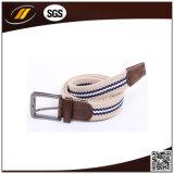 多彩な合金のバックルが付いている人の伸縮性がある伸張によって編まれる編みこみのベルト