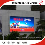 Pantalla a todo color al aire libre de la publicidad comercial de P7.62 LED