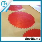 Design Red Color Custom Company Logo Étiquette ronde