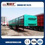 3 as de Aanhangwagen van het Vervoer van het Vee van de Capaciteit van de Lading van 50 Ton