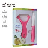 Fruit와 Vegetable를 위한 세라믹 Knife+Peeler Set