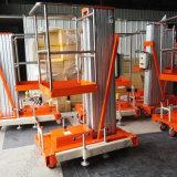 Hydraulisch Lucht Werkend Opheffend Platform Één Platform van de Lift van de Legering van het Aluminium van de Mast het Elektrische