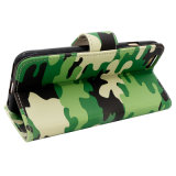 Grüne Camouflage Leather Fall PU Fall für Mobile/Handy