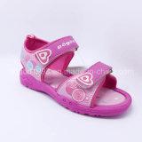 2016 der Qualitäts-Form-Kind-Sandelholz-Mädchen-Sandelholz-Kind-Sandelholz-beiläufige Schuh-Sommer bereift Einspritzung-Schuhe PU-Gummi