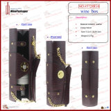 Klassische Patterned PU Leather Wine Carrier (5728R2)