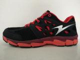 Chaussures de course occasionnelles de la maille noire et blanche des hommes