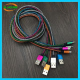 1m a cabo de nylon personalizado 3m do USB do telefone móvel do comprimento