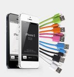 El PVC colorido aisló la cuerda de 8 del Pin del relámpago del USB datos del cable
