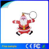 Movimentação 2015 do flash do USB de Papai Noel do presente do Natal