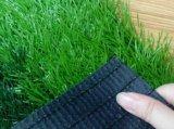 Césped sintetizado de la hierba que ajardina