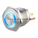 commutateur ouvert normal momentané en métal d'acier inoxydable de déclenchement de micro de 22mm