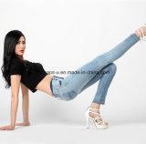 Кальсоны женщин джинсыов повелительниц джинсовой ткани способа сексуальные тощие