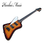Нот Hanhai/левша электрическая басовая гитара с 4 шнурами
