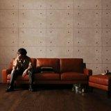 Sofá de couro retro americano da combinação do canto da sala de visitas
