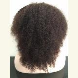 """"""" verworrene lockiges Haar-Perücke der maschinell hergestellten vollen Spitze-20 für schwarze Frauen"""
