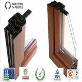 Perfil de madera del grano de la protuberancia de aluminio/de aluminio para el marco de la ventana y de puerta