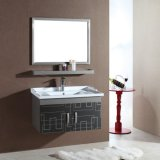 Gabinete de baño hecha de chapas de acero inoxidable