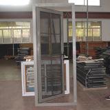Porta de alumínio do Casement do perfil da ruptura térmica com rede e grade de aço de mosquito dentro do vidro dobro Kz221