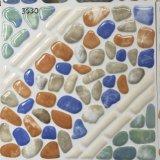 Azulejo de suelo de cerámica del cuarto de baño de piedra colorido impermeable de la mirada