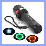Q5 LED roter grüner Modus-Bahnsignal-Taschenlampe-Fackel des Weiß-7