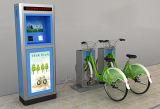Coluna inoxidável Bicicleta-Colorida pública do dobro do fechamento do dobro da tubulação de aço