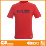 T-shirt Running da forma dos esportes de equipe dos homens