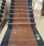الرخام المصقول والجرانيت بلاط الحجر عن الطابق / درج مع أبيض / أحمر / أسود / أصفر الخطوة بلاط الحجر Tile1000 * 260/300 * 170MM