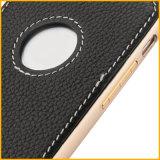 Caixa de couro luxuosa clássica do telefone móvel da venda quente para o iPhone