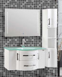 Side Cabinet를 가진 높은 Quality Wall Mounted Glass Bowl Bathroom Vanity