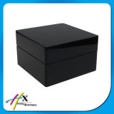 Kundenspezifische Ordnungs-hoch glatter schwarzer Lack-hölzernen Uhr-Kasten mit Firmenzeichen annehmen