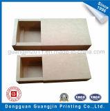 Het bruine Vakje van het Document van Kraftpapier Vouwbare Verpakkende met Lade