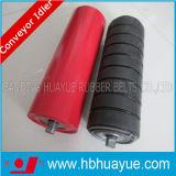Vert rouge noir en caoutchouc du diamètre 89-159mm Huayue de rouleau d'attente de bande de conveyeur