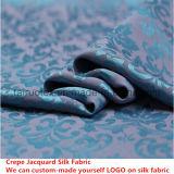 Soie mourante réactive de jacquard de Crepe pour le tissu en soie de robe