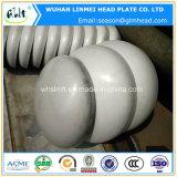 Instalaciones de tuberías principales elípticas servidas sólidas del casquillo de extremo del acero inoxidable