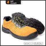 Низкий ботинок безопасности кожи замши отрезока с впрыской PU (SN5301)