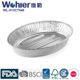 Поднос пирожня алюминиевой фольги изготовленный на заказ серебра контейнера торта алюминиевой фольги устранимый