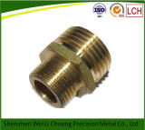 CNC su ordine Machining Parte di Brass Colored Brass con Thread